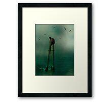 In The Ocean Mist Framed Print