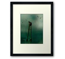 In The Ocean Mist Framed Print