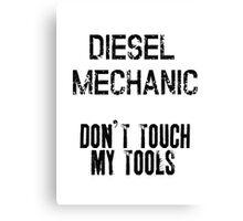 diesel mechanic black  Canvas Print
