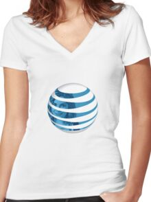 The AT&T of People Women's Fitted V-Neck T-Shirt
