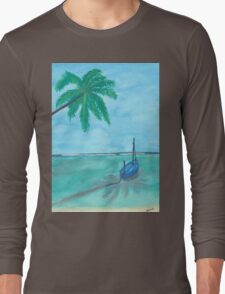 Boat on the water Long Sleeve T-Shirt