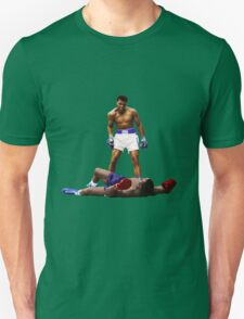 """Wake Up"" Muhammad Ali, VS Liston, Earth Fists T-Shirt"