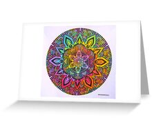 Mandala 10 drawing rainbow 1 Prints, Cards & Posters Greeting Card