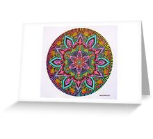 Mandala 10 drawing rainbow 2 Prints, Cards & Posters Greeting Card
