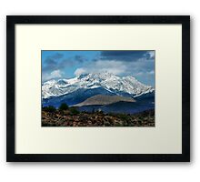 Four Peaks in Snow Framed Print