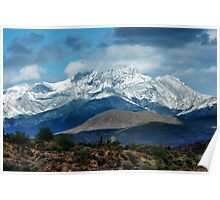 Four Peaks in Snow Poster