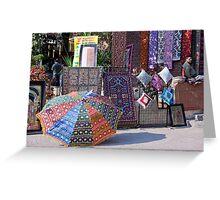 Fabrics, Materials, And Carpets Greeting Card