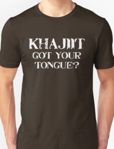 Khajiit 2 White for high necked T-Shirt