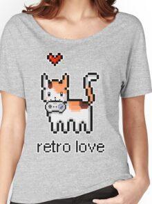 8 bit retro kitty Women's Relaxed Fit T-Shirt