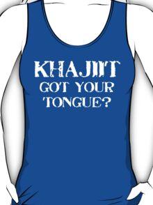 Khajiit 2 White for low necked T-Shirt