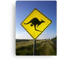 Beware of the Roo. Canvas Print