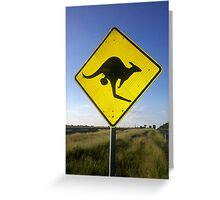 Beware of the Roo. Greeting Card