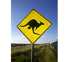 Beware of the Roo. Photographic Print