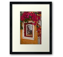 Oia Boutique Framed Print