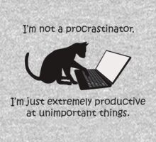 I'm Not a Procrastinator - Cat Kids Tee