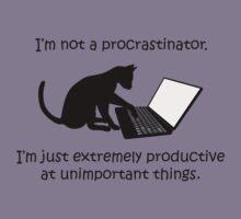 I'm Not a Procrastinator - Cat Kids Tee