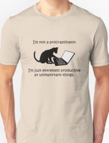 I'm Not a Procrastinator - Cat T-Shirt