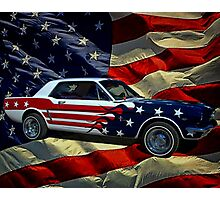 Captain America 1964 Mustang Photographic Print