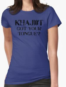 Khajiit 2 Black for low necked Womens Fitted T-Shirt
