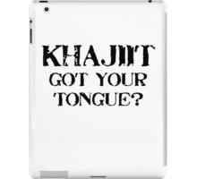 Khajiit 2 Black for low necked iPad Case/Skin