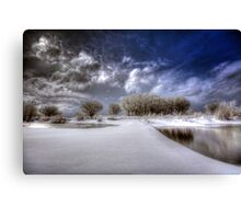 Snow Bridge Canvas Print
