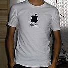 Share (mac) t-shirt by Leoncio