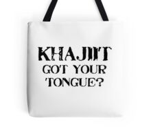 Khajiit 2 Black for high necked Tote Bag
