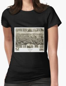 Panoramic Maps Birds eye view of Oxford Chester Co Pennsylvania T-Shirt