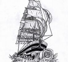 traditional pirate ship drawing Traditional Pirate Sh   Likhte Chai Amar Lekha