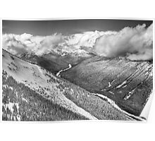 Cascade Mountains from Crystal Moutain Poster