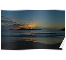 Sunrise at Fingal Bay NSW Poster