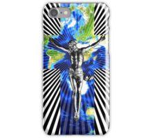 Climate Change Cube Earth Op Art Pop Jesus iPhone Case/Skin