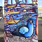 Life @ the Lake (back view of Traffic Signal Box) by Penny Hetherington