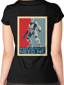 Halo 3 - Wake Me When You Need Me Women's Fitted Scoop T-Shirt