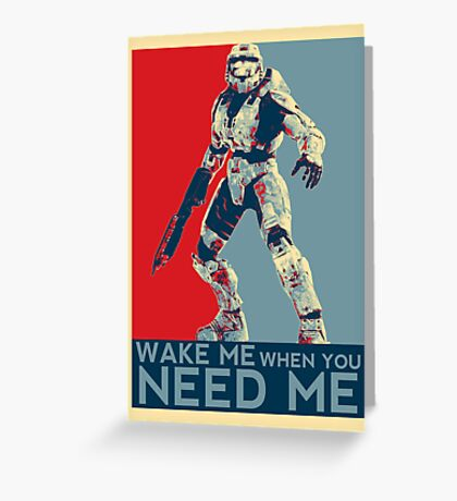 Halo 3 - Wake Me When You Need Me Greeting Card