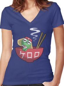 Keroro Gunsou - Frog Soup Women's Fitted V-Neck T-Shirt
