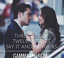Gossip Girl Gamma Phi Beta by kierstynn