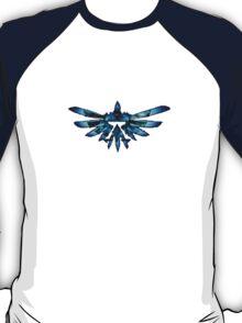 Zelda Triforce in Blue T-Shirt