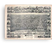 Panoramic Maps Moncton New Brunswick 1888 Canvas Print