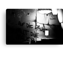 The writing's on the wall Canvas Print