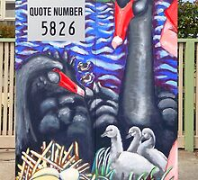 Life @ the Lake (front side of Traffic Signal Box) by Penny Hetherington