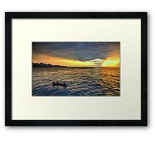 Sunset.Lake Tanganyika Framed Print
