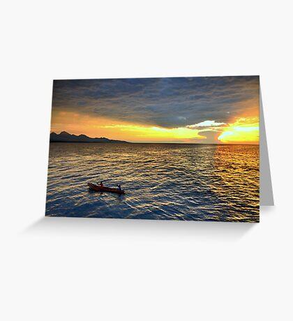 Sunset.Lake Tanganyika Greeting Card