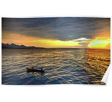 Sunset.Lake Tanganyika Poster