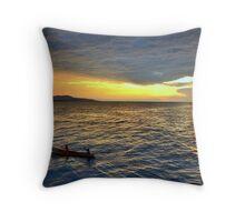 Sunset.Lake Tanganyika Throw Pillow