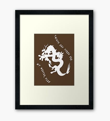 Twiwsts and Turns Framed Print