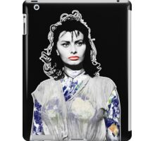"""Title: """"Sexiness Comes From Within"""", Boy on a Dolphin, Sophia Loren, Inspired Earth Girl, Woman iPad Case/Skin"""