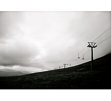 Mountain Top Chair Lift Photographic Print