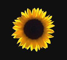 Large Single Sunflower Eclipse Womens Fitted T-Shirt