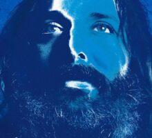 My god is blue Sticker